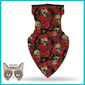 ‼️NEW‼️ Rose Skull Mask Gaiter Scarf w/ Ear Loops